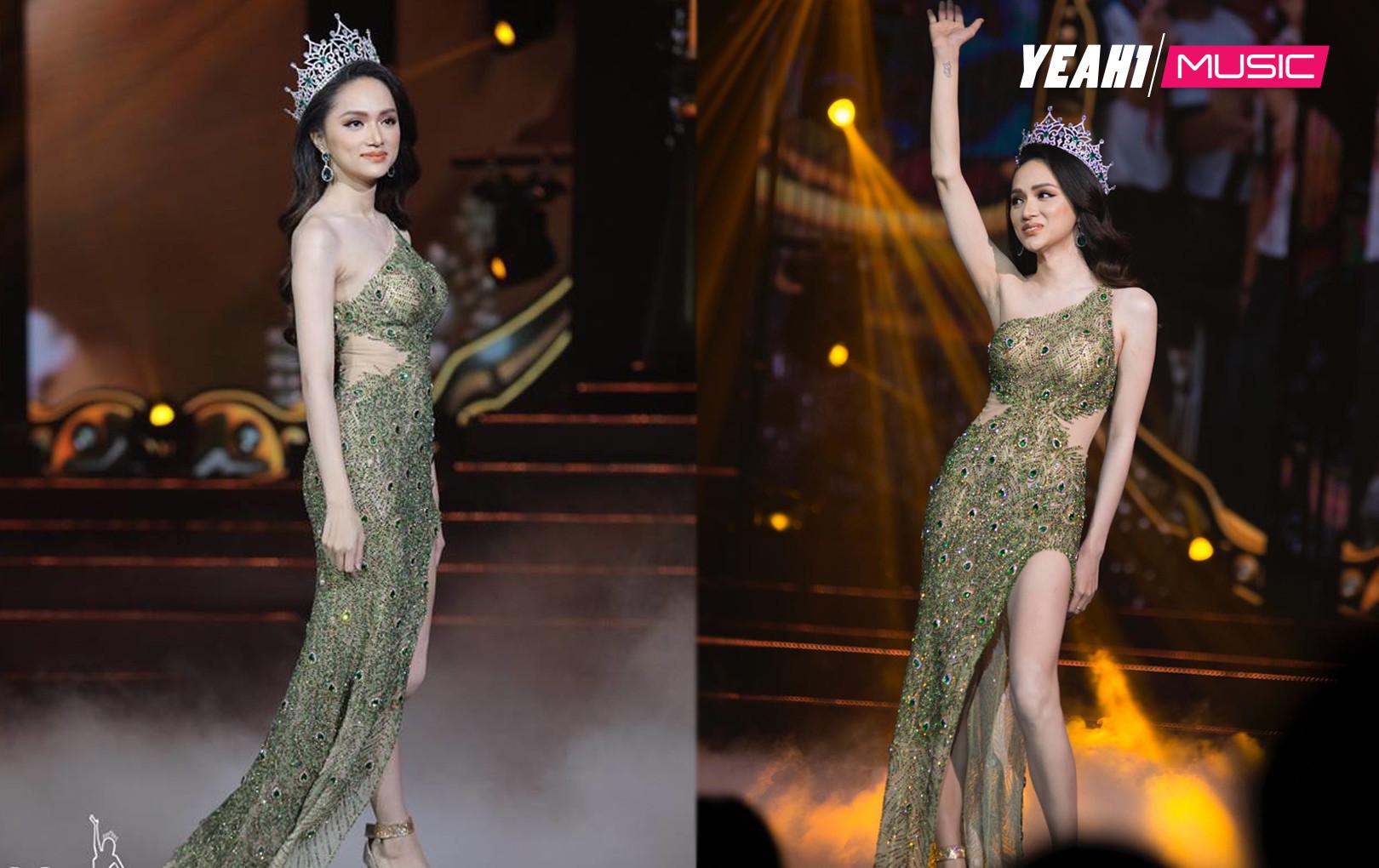 Hương Giang đẹp tựa nữ thần, lộng lẫy trong đêm chung kết Hoa hậu Chuyển giới Quốc tế 2019