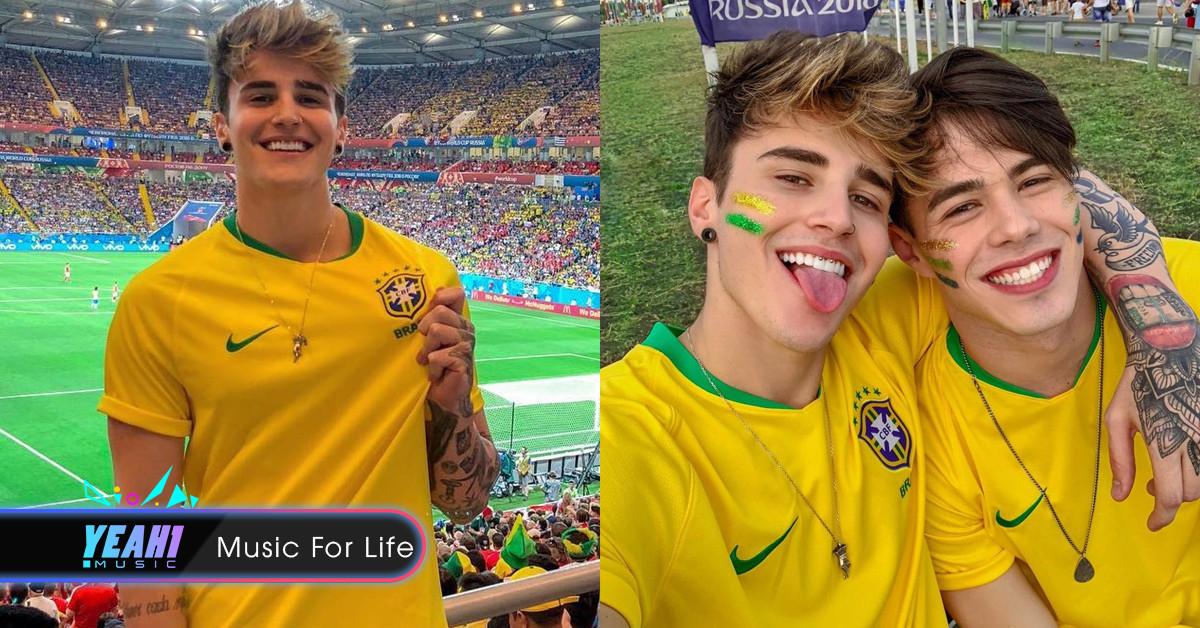 Cổ động viên Brazil đẹp trai được dân mạng truy tìm sau khi xuất hiện trên khán đài cổ vũ