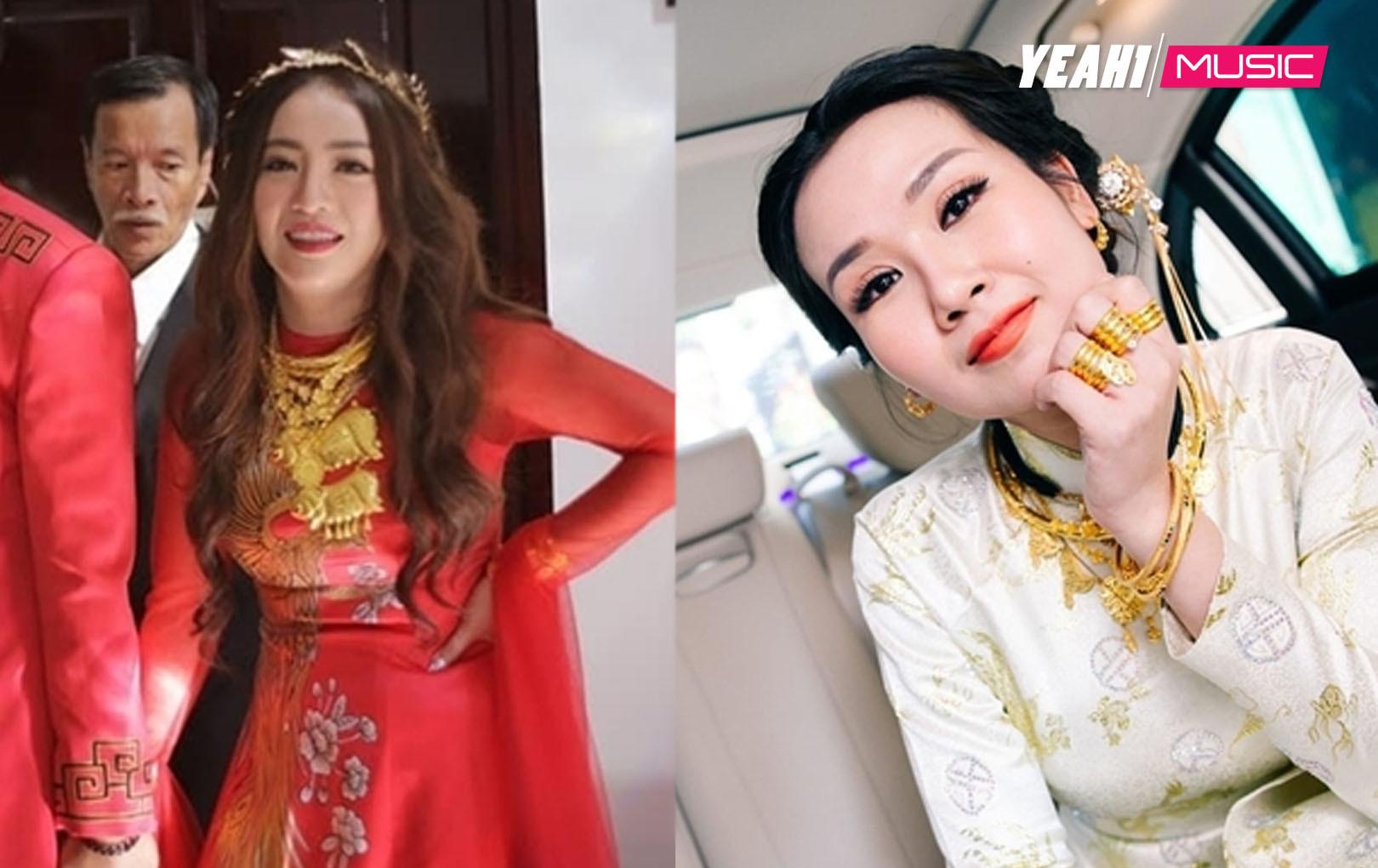 Trố mắt mỹ nhân Việt đeo vàng nặng trĩu trong ngày đám cưới