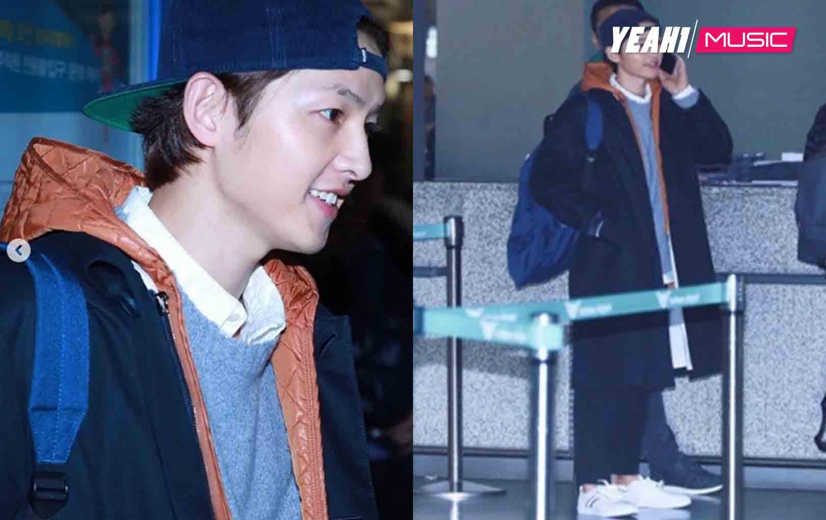Đúng ngày đặc biệt của 2 vợ chồng, Song Joong Ki bay đi nước ngoài, thái độ nói lên tất cả