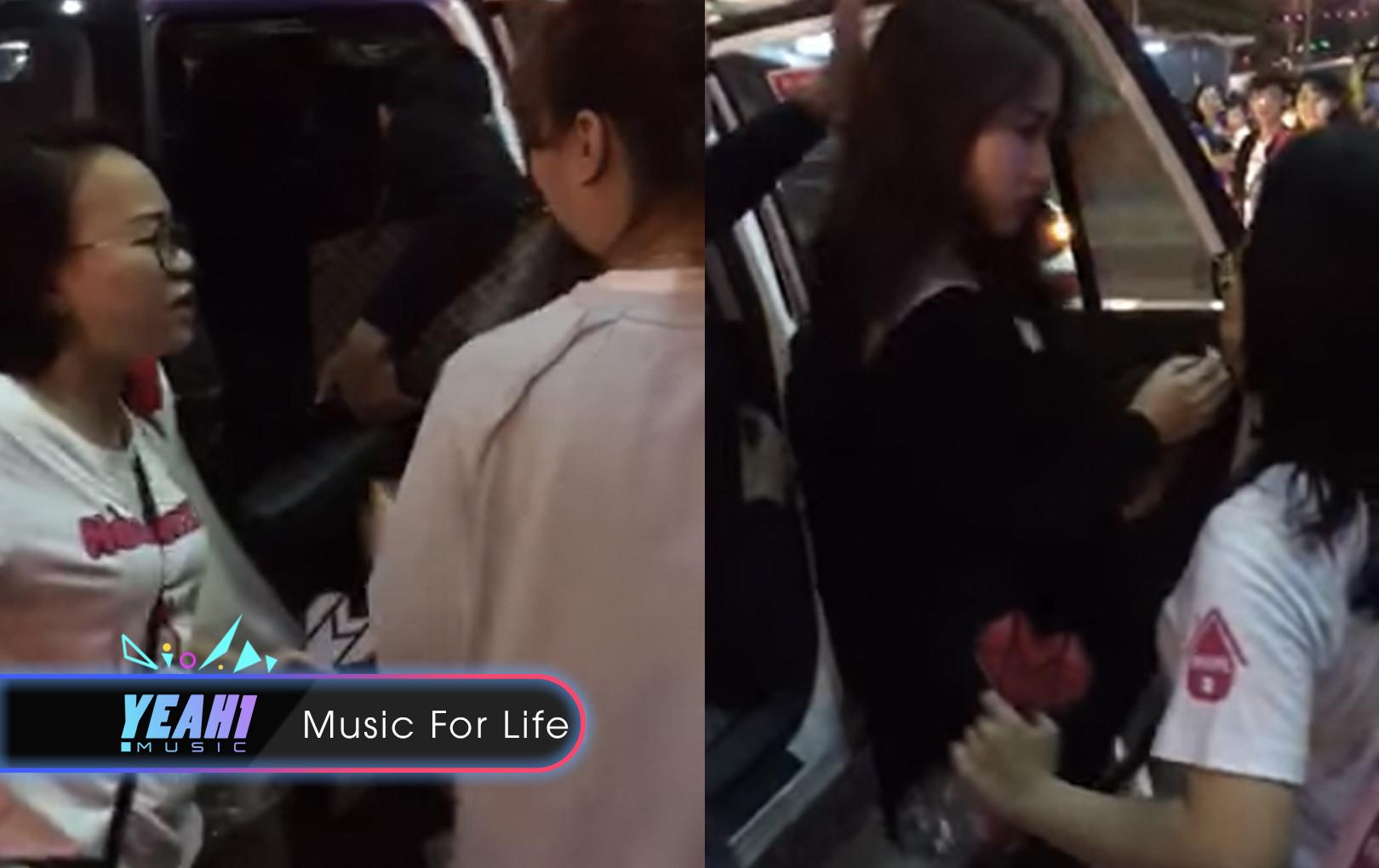 """Lộ clip Hòa Minzy lạnh lùng như """"sao hạng A"""", để mặc trưởng FC quát mắng, chửi fans hống hách"""
