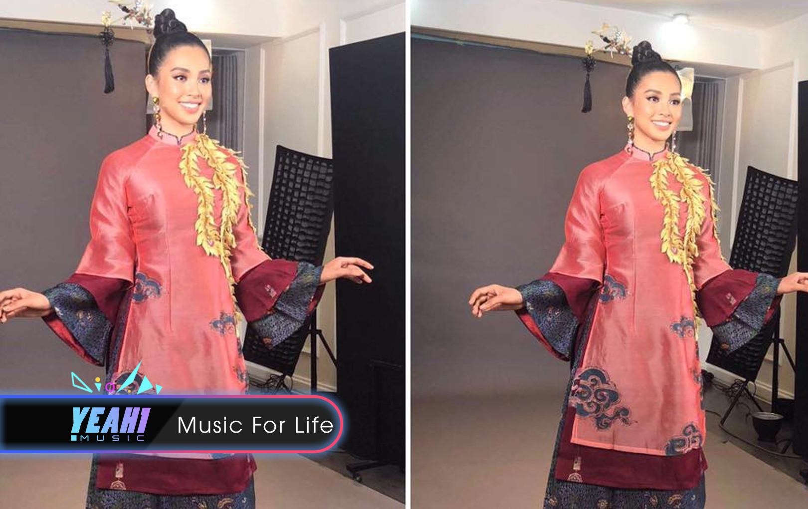 """""""Lạc Trôi"""" được Tiểu Vy mang lên sân khấu trình diễn trong phần thi tài năng tại Miss World 2018"""