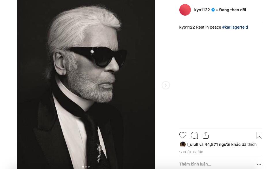 Mặc kệ tin đồn ly hôn chồng, nàng thơ Song Hye Kyo bày tỏ niềm tiếc thương cùng bộ ảnh may mắn chụp bên huyền thoại quá cố Karl Lagerfeld