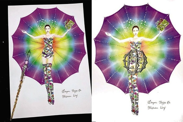 Đỗ Nhật Hà gây tranh cãi khi mang Lô Tô vào trang phục truyền thống dự thi Hoa hậu Chuyển giới Quốc tế