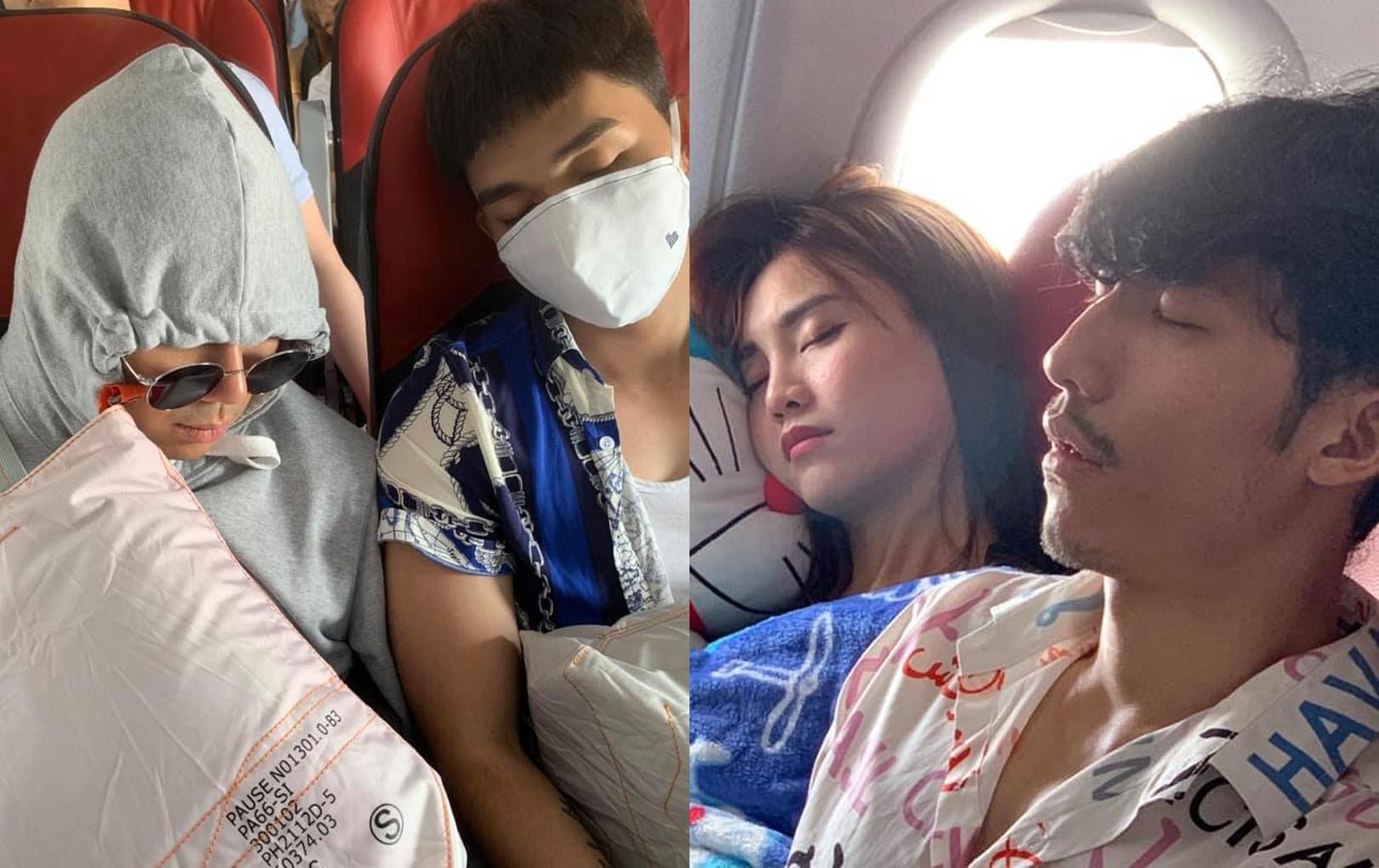 """Đến lượt """"thánh nhọ"""" Ngô Kiến Huy """"dìm hàng"""" dàn Running Man Vietnam trên máy bay không thương tiếc"""