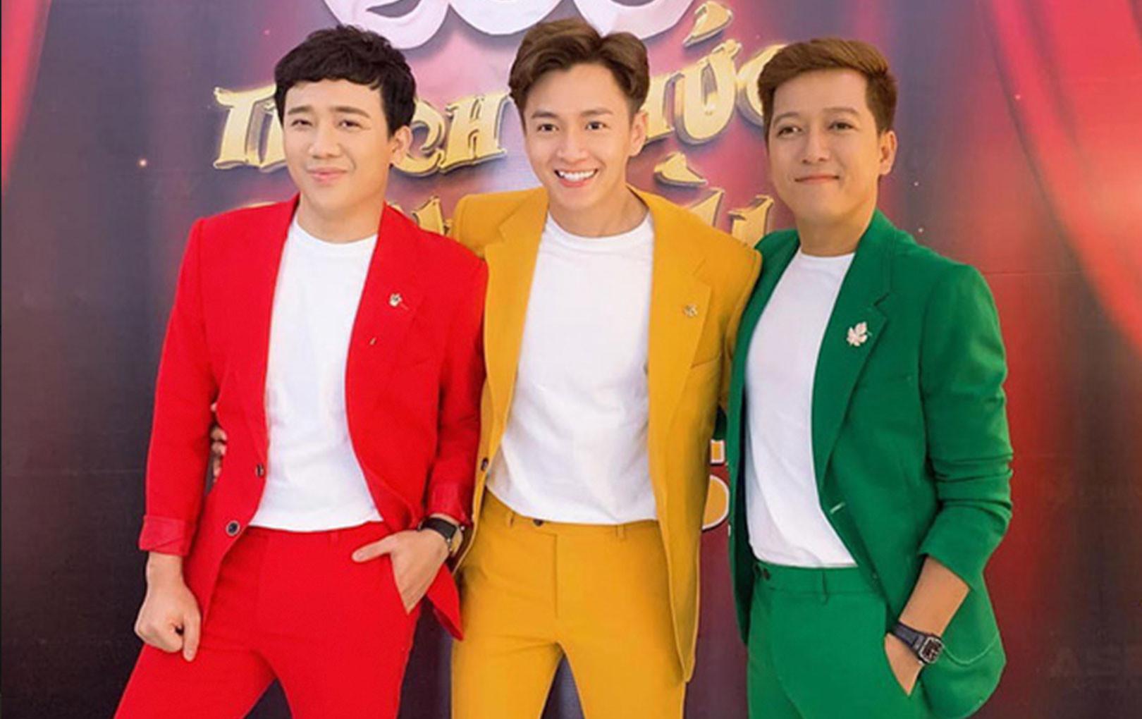 3 gương mặt vàng của làng MC hẹn nhau lên đồ như cột đèn giao thông, Trấn Thành - Ngô Kiến Huy - Trường Giang khiến Nhã Phương phải than trời!