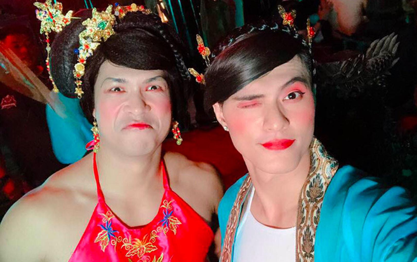 Chỉ góp mặt sương sương vài giây, Lâm Vinh Hải và Trương Thế Vinh khiến khán giả phải đứng hình vì giả gái quá... đẹp!
