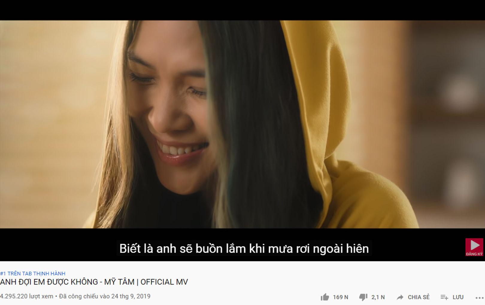 """""""Chị Đẹp"""" Mỹ Tâm ngay ngắn lên ngôi ngôi vị Top 1 trending Việt Nam - Top 10 MV nhiều lượt xem nhất thế giới"""