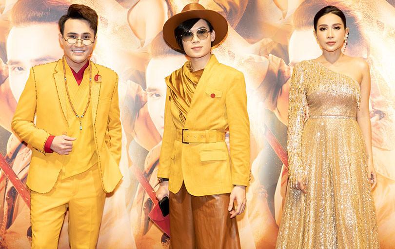 """Huỳnh Lập, Quang Trung, Khả Như diện tông vàng rạng rỡ ra mắt phim điện ảnh đầu tay """"Pháp Sư Mù"""""""
