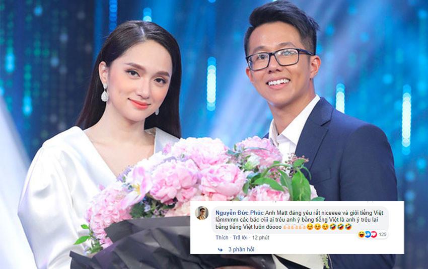 Dàn sao Việt đồng loạt gửi lời chúc mừng khi Hương Giang hẹn hò với CEO Matt Liu