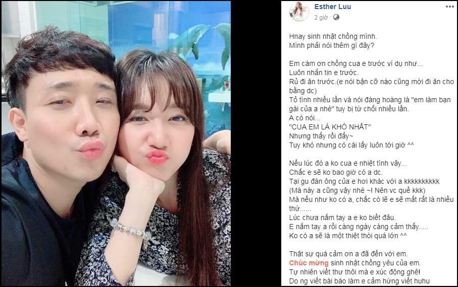Đúng sinh nhật Trấn Thành, Hari Won bất ngờ công khai quá khứ nhiều lần từ chối lời tỏ tình của ông xã