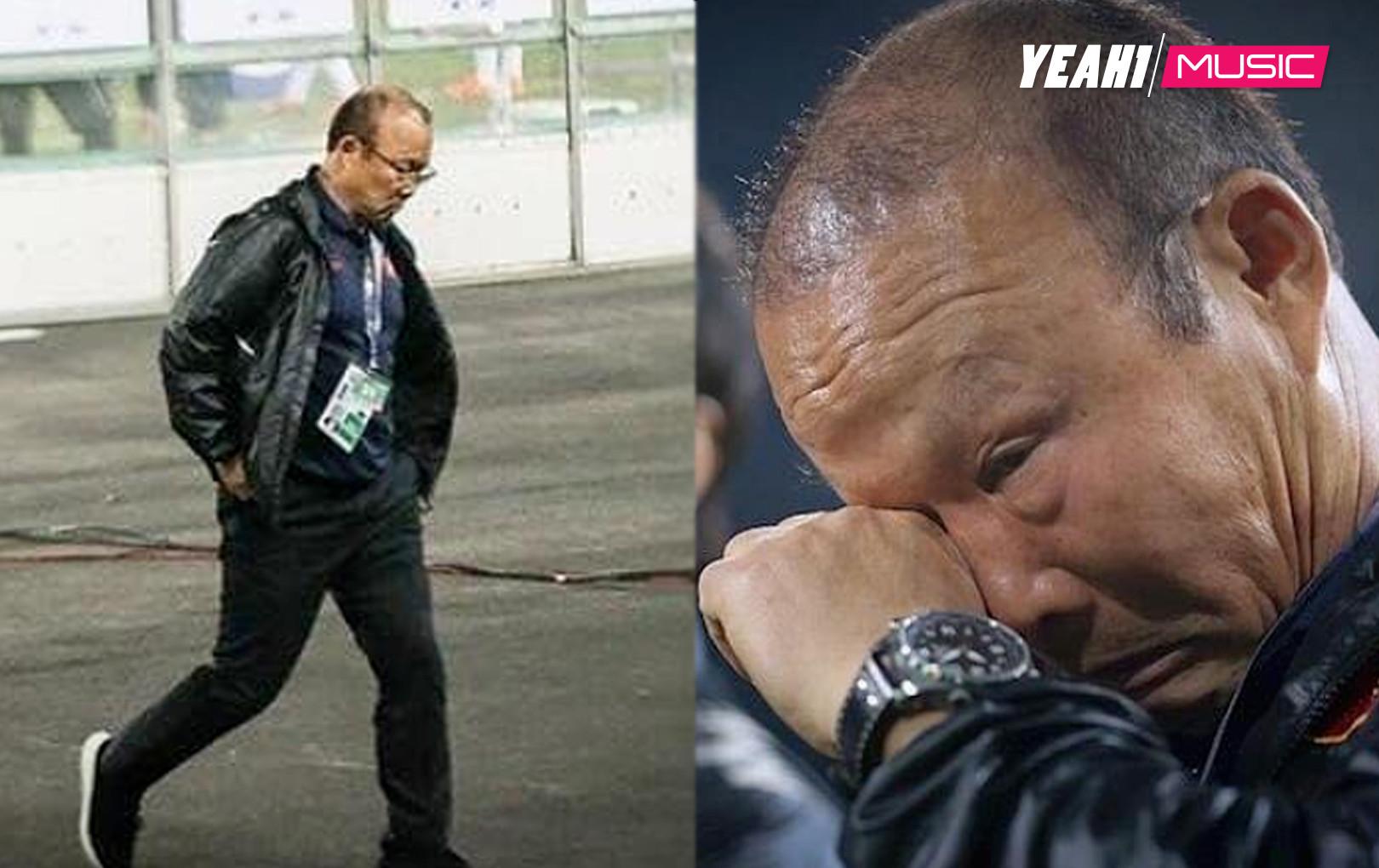 Xúc động khoảnh khắc HLV Park Hang-Seo chấm nước mắt sau chiến thắng của U23 Việt Nam