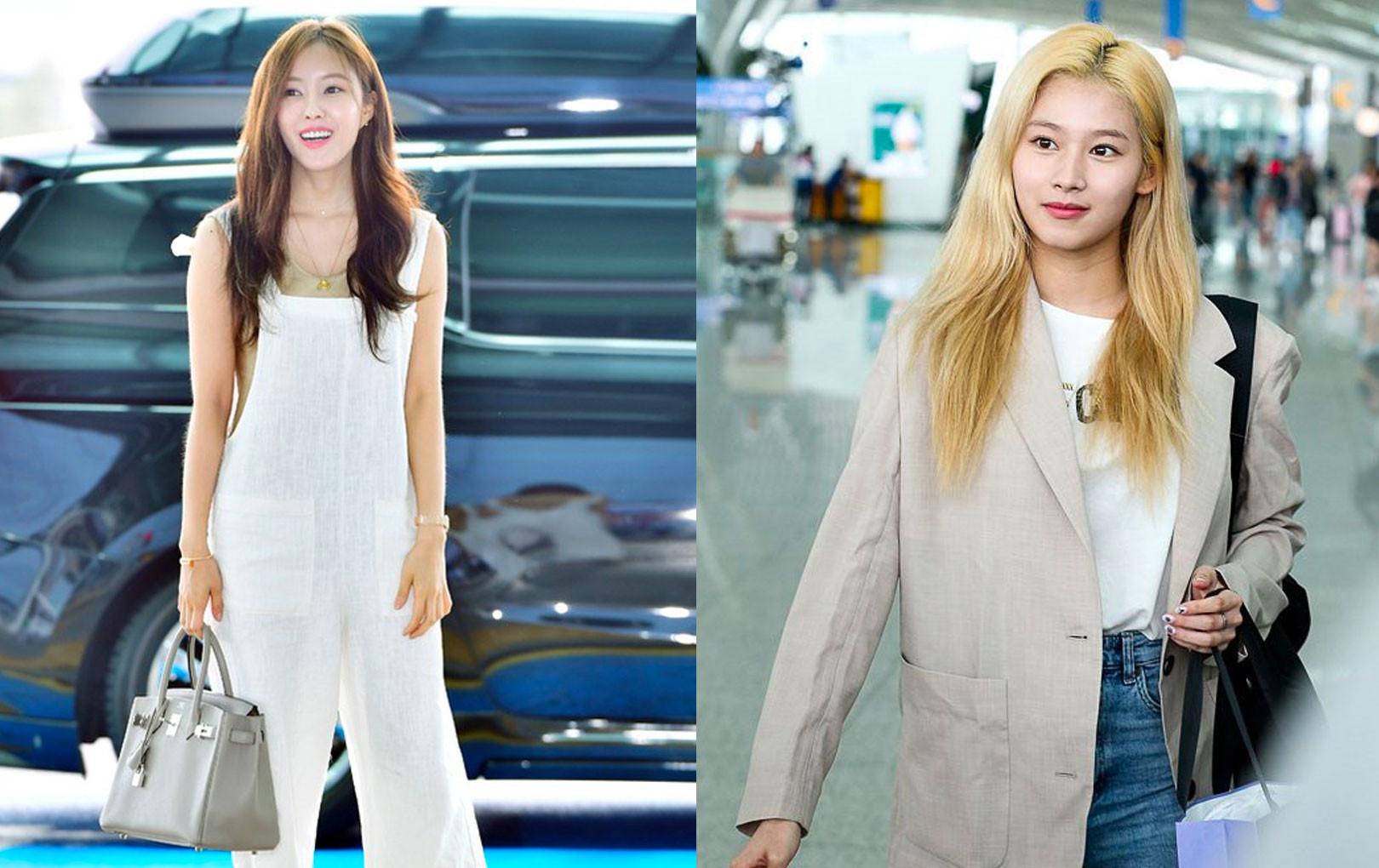 """Cùng trang điểm """"sương sương"""" ra sân bay, Hyomin (T-ara) xuất thần đến mức đánh bật cả nữ thần TWICE"""