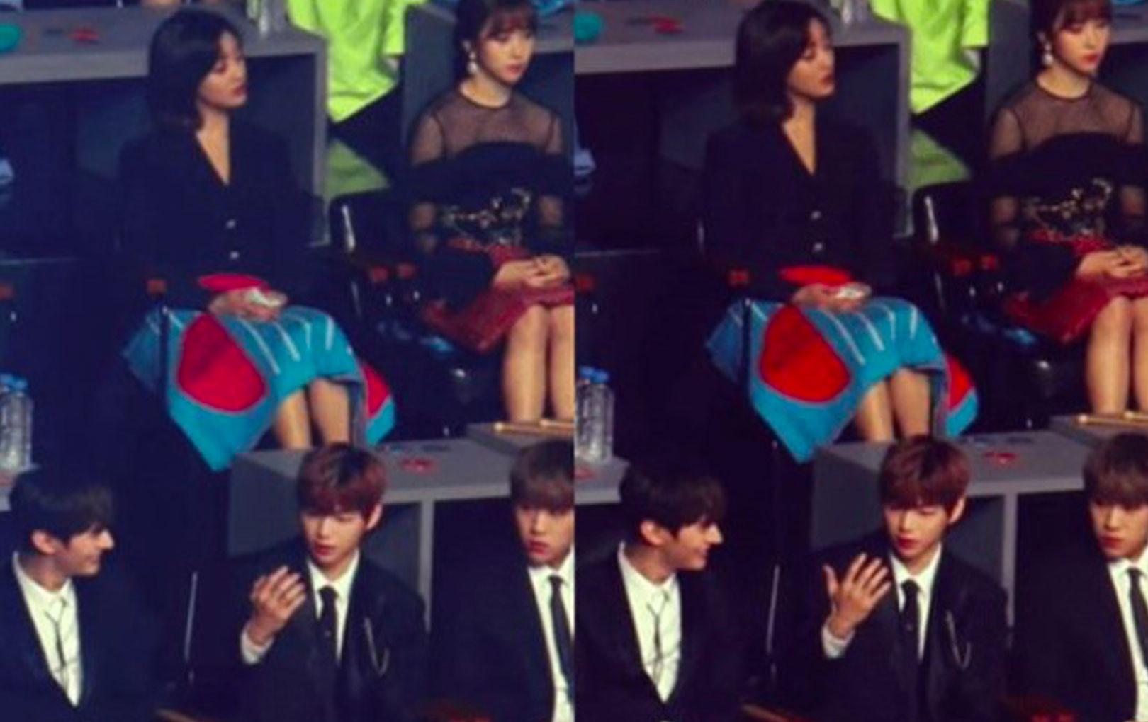 """CĐM lại tiếp tục """"đào mộ"""" được bằng chứng Kang Daniel và Jihyo (TWICE) """"thả thính"""" nhau trong 1 lễ trao giải đầu năm"""