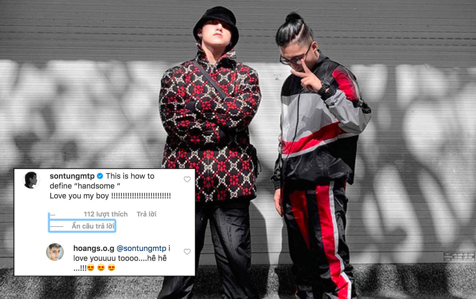 """Sơn Tùng M-TP và em trai khiến CĐM bấn loạn vì """"thả thính"""" cực tình cảm trên mạng xã hội"""