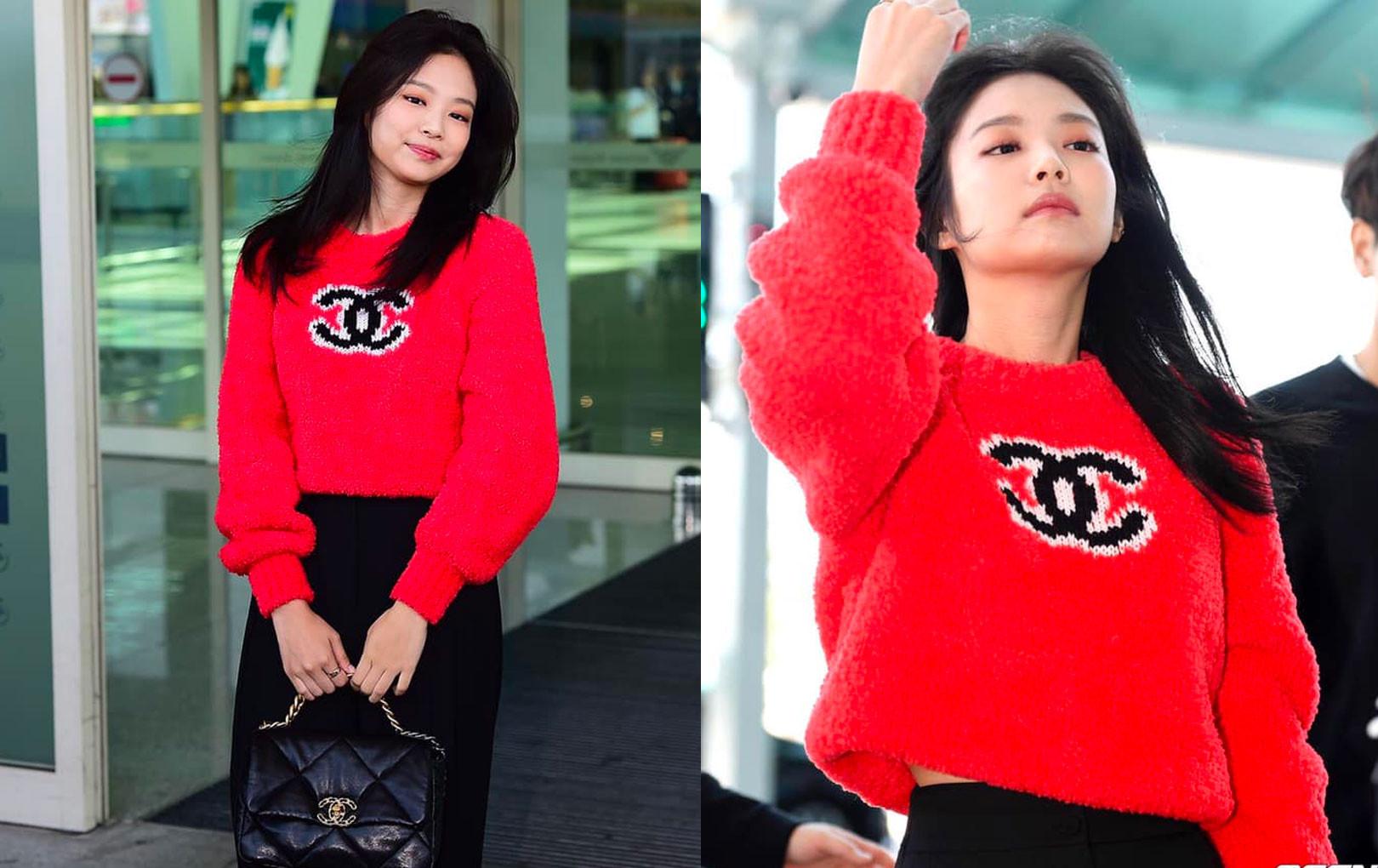 """Jennie (Black Pink) xuất hiện với thần thái """"sang chảnh"""" diện nguyên cây Chanel từ đầu đến chân tại sân bay"""