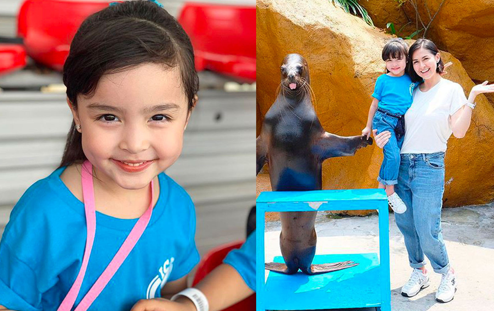 """""""Mỹ nhân đẹp nhất Philippines"""" khoe lần đầu con gái tới thủy cung, biểu cảm đáng yêu của Zia khiến CĐM chú ý"""