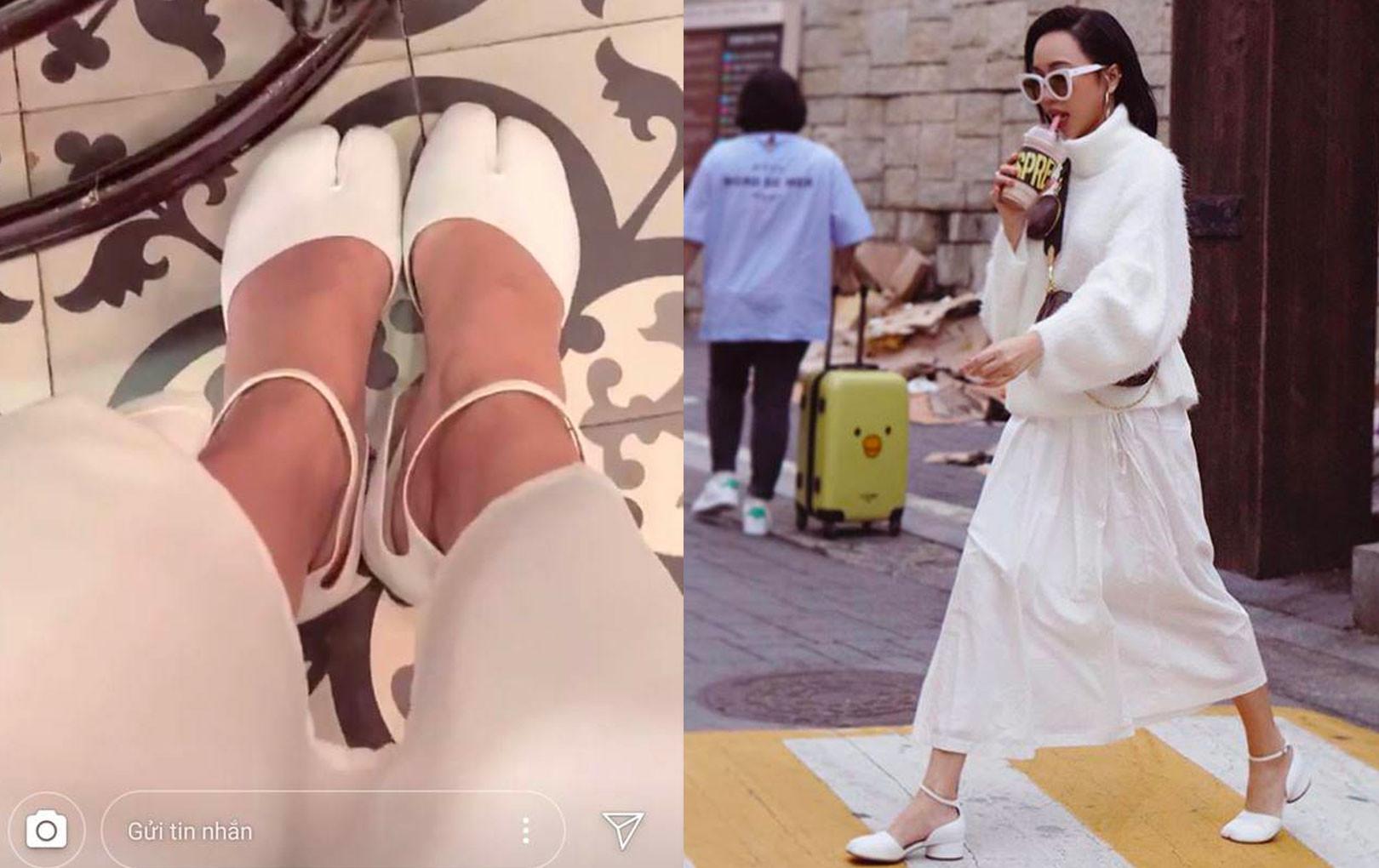"""Sành điệu vượt cả Ngọc Trinh, Diệu Nhi là mỹ nhân Vbiz đầu tiên sở hữu """"giày móng heo"""" đang hot tại Hàn Quốc"""
