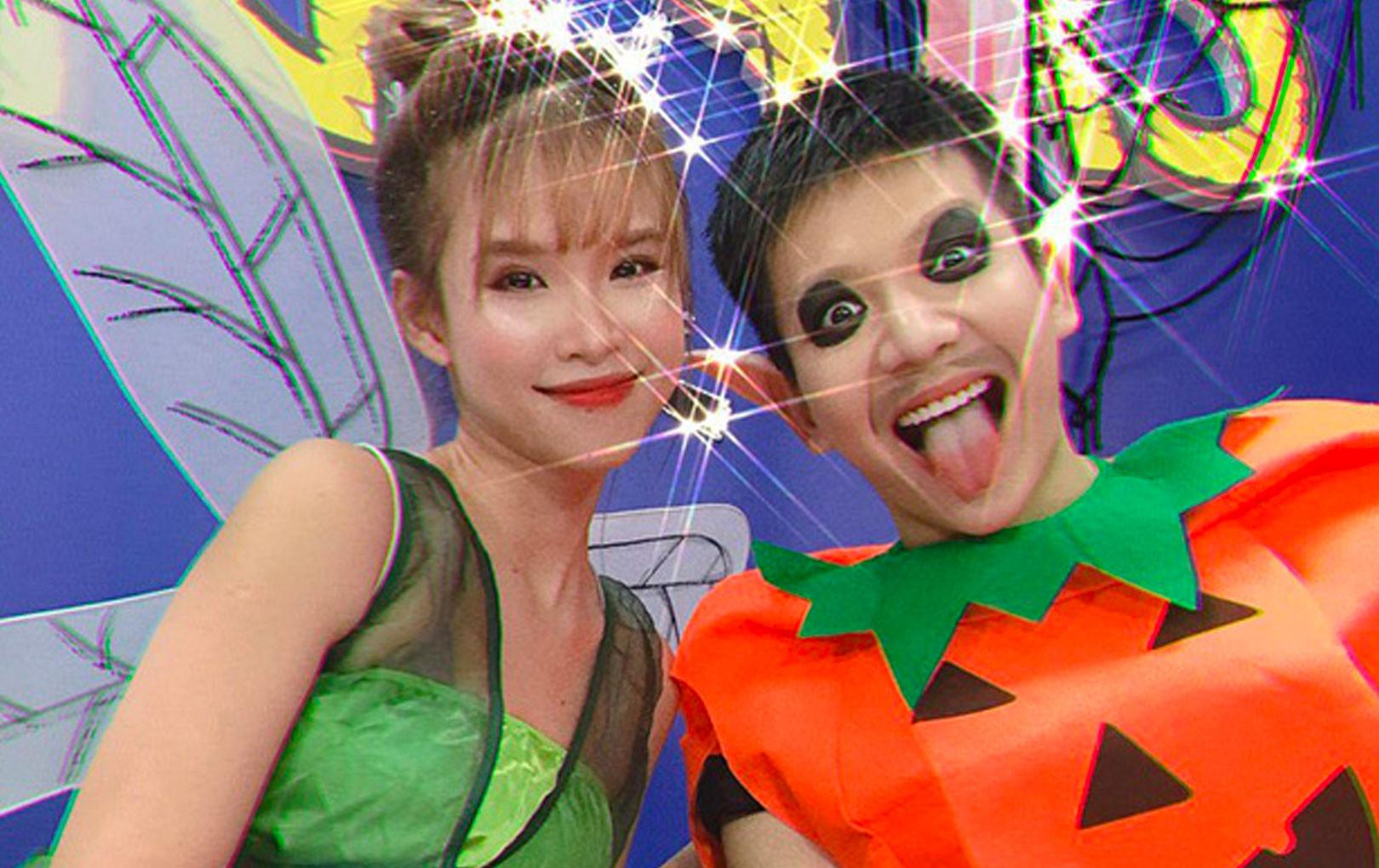 Vợ chồng Khởi My - Kelvin Khánh nhí nhố hưởng ứng hoá trang Halloween, tình cảm ngọt ngào như thuở mới yêu!