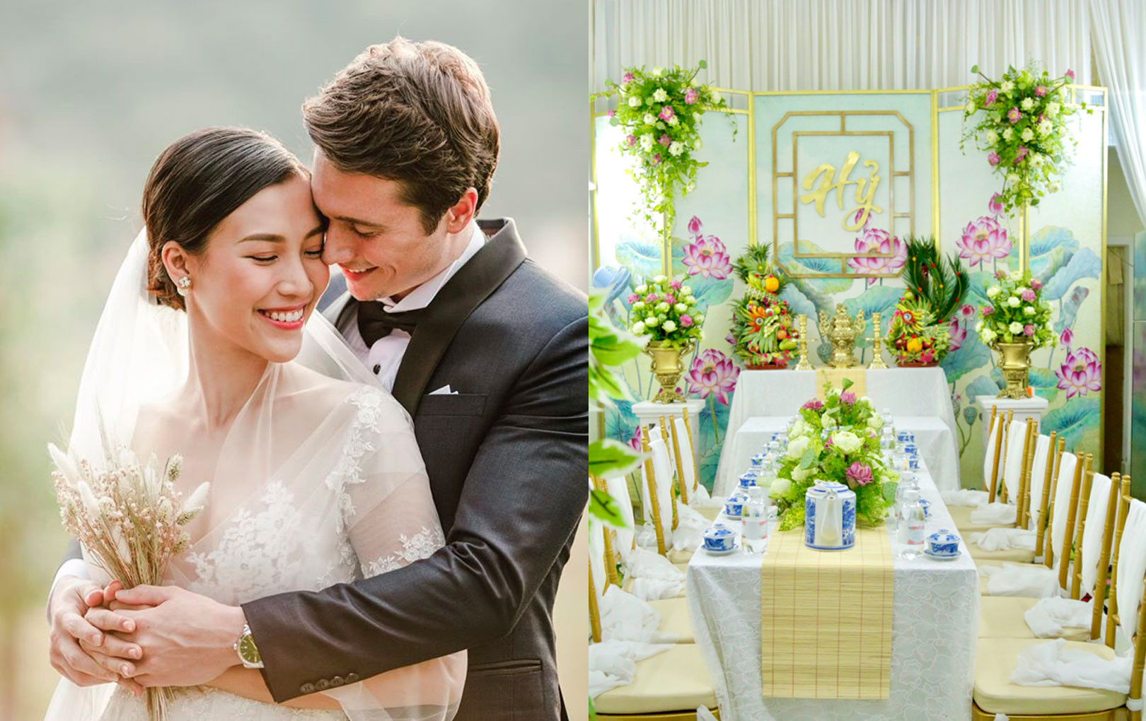 Không gian tại nhà Hoàng Oanh được hé lộ trước giờ G đám cưới