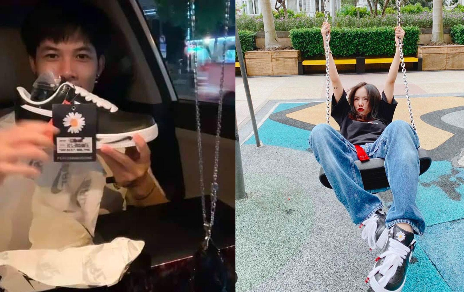 Anh Tú, Phương Ly thích thú khoe khoảnh khắc đập hộp giày hiệu của G-Dragon