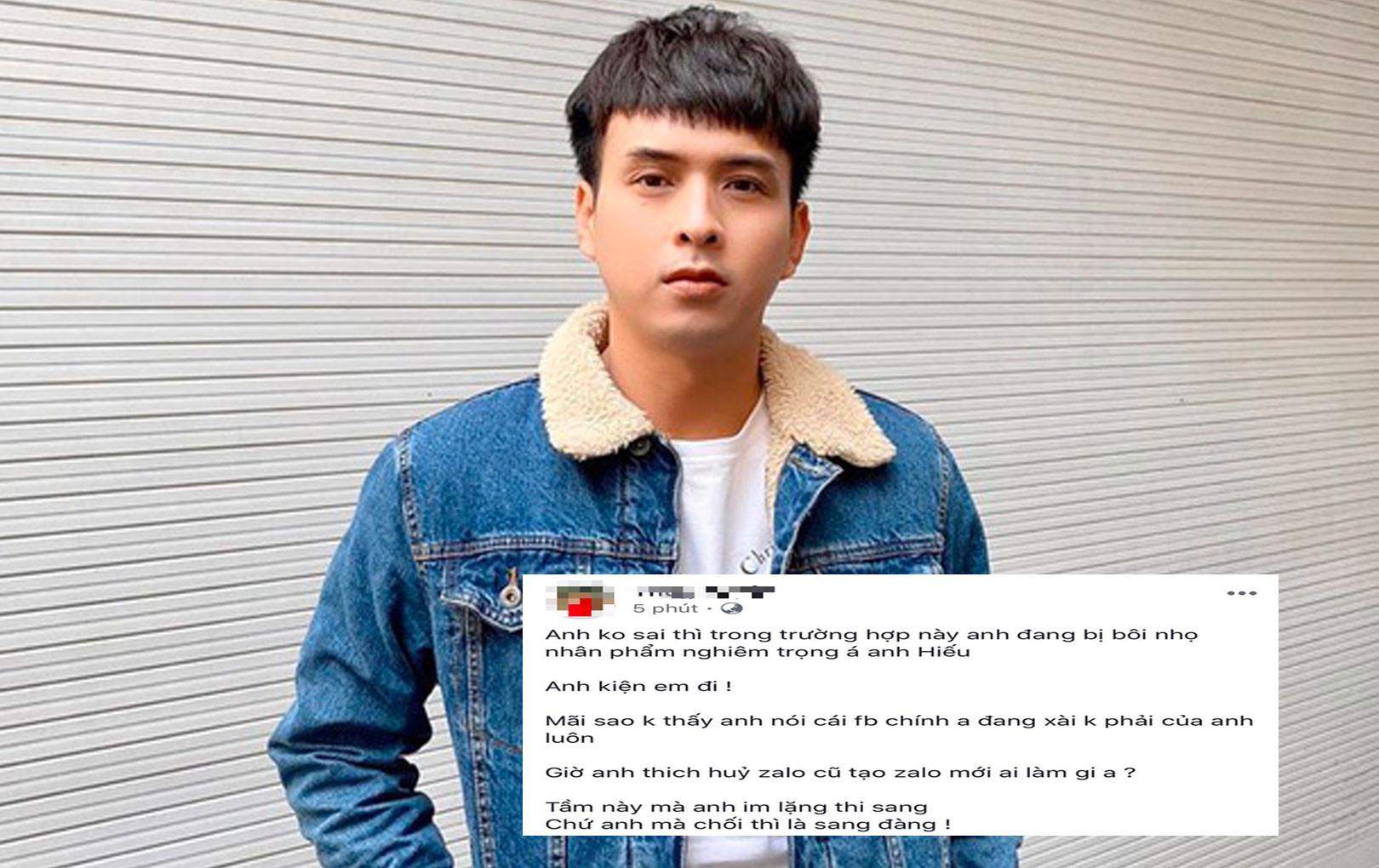 """Cô gái tố Hồ Quang Hiếu lên tiếng: """"Anh đang bị bôi nhọ nghiêm trọng á, kiện em đi"""""""