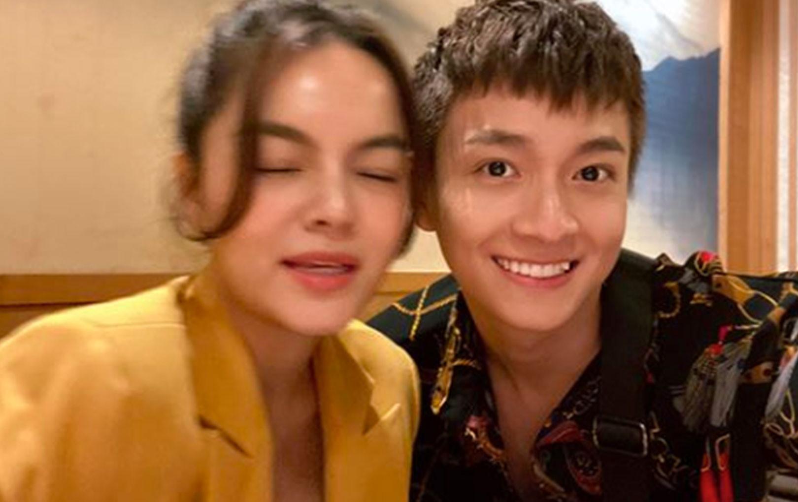 """Được dịp gặp Phạm Quỳnh Anh, Ngô Kiến Huy khen ca khúc mới nhưng không quên... dìm hàng """"người yêu cũ"""""""