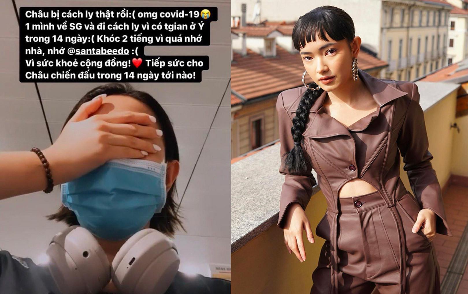 Châu Bùi là celeb đầu tiên ở Việt Nam phải cách ly tập trung vì Covid-19 sau khi trở về từ Ý