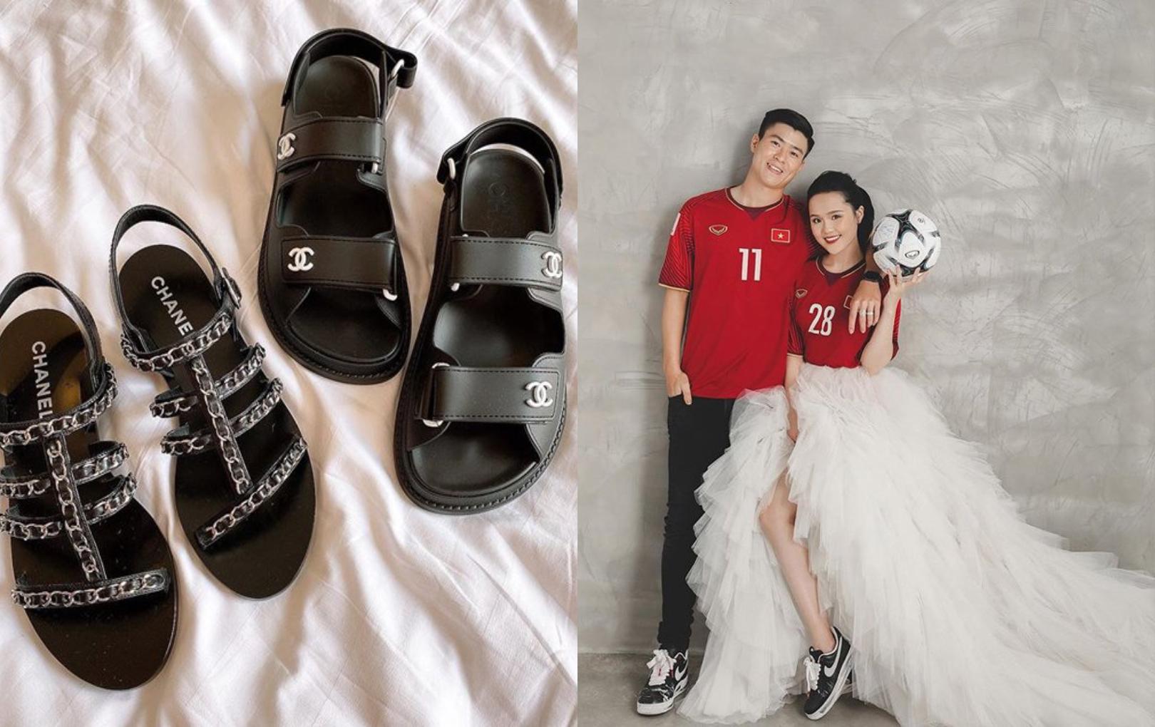 """Duy Mạnh bị chấn thương, Quỳnh Anh lập tức """"dỗ dành"""" chồng bằng giày hàng hiệu"""