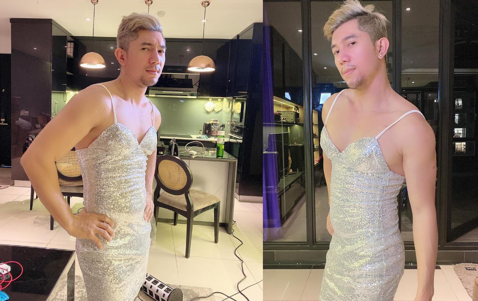 Lương Bằng Quang gây sốc với hình ảnh diện váy ôm body gợi cảm