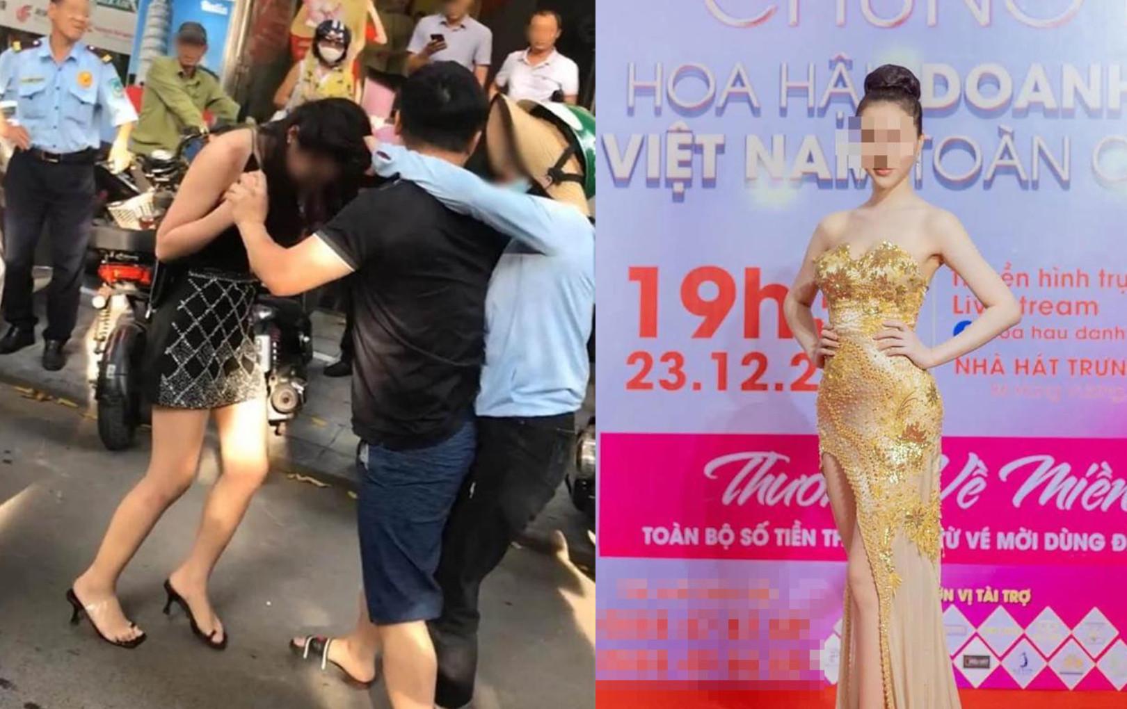 Cô gái bị đánh ghen trên phố Lý Nam Đế khoe vào chung kết cuộc thi Hoa hậu, sẽ thẳng tiến showbiz?