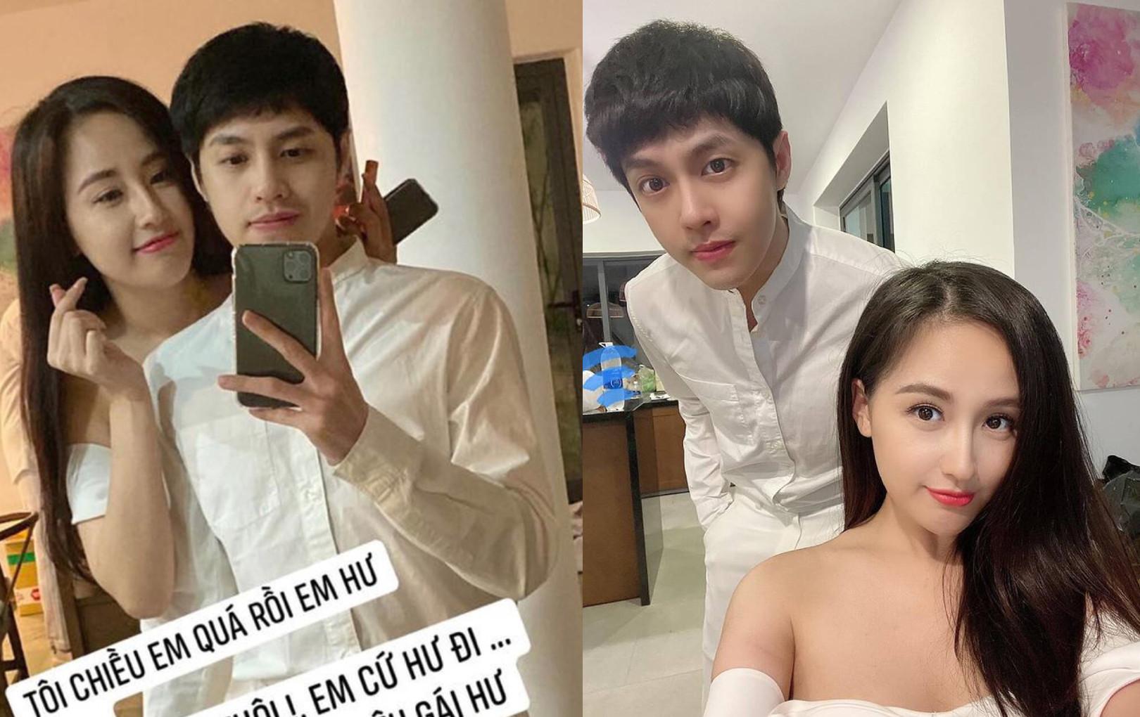 """Mai Phương Thuý bị """"dòm ngó"""", Noo Phước Thịnh đáp trả: """"Chỉ muốn bụp mấy ông ngắm vợ mình"""""""