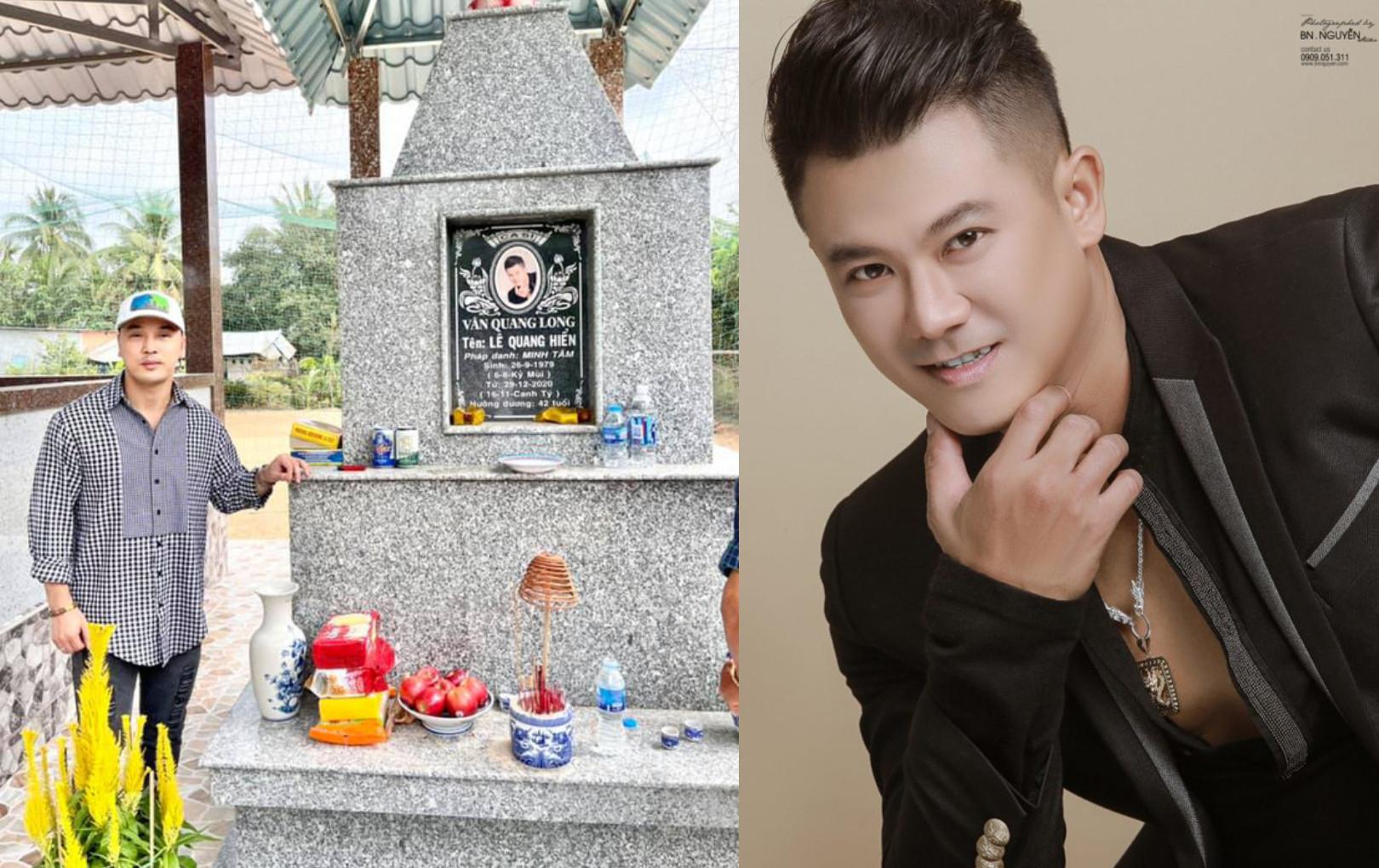 """Ưng Hoàng Phúc đưa vợ đến viếng thăm mộ Vân Quang Long: """"Em về thăm ba mẹ và anh"""""""