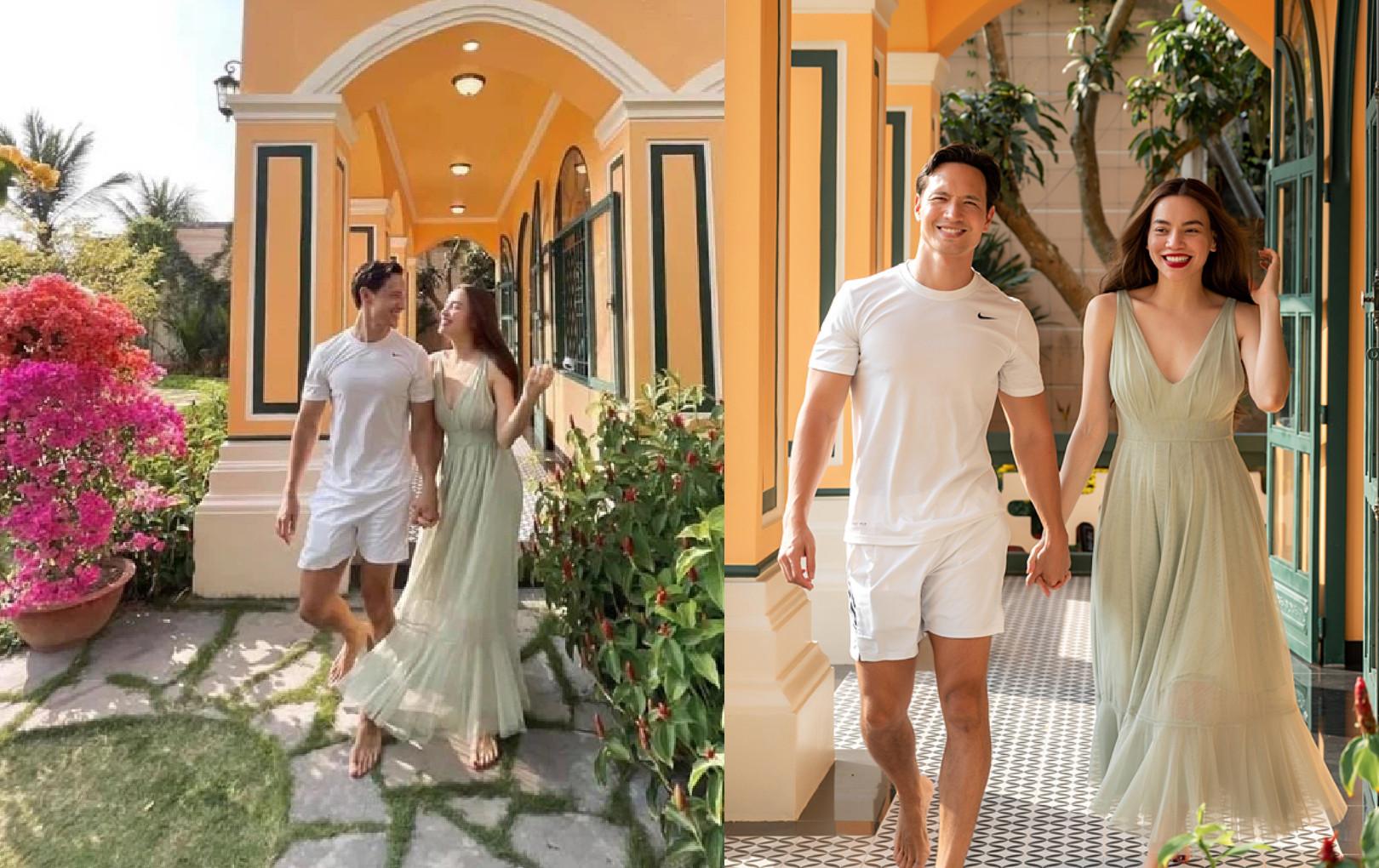 """Bức ảnh tình tứ của vợ chồng Hà Hồ - Kim Lý được khen """"bàn chân cũng có tướng phu thê"""""""