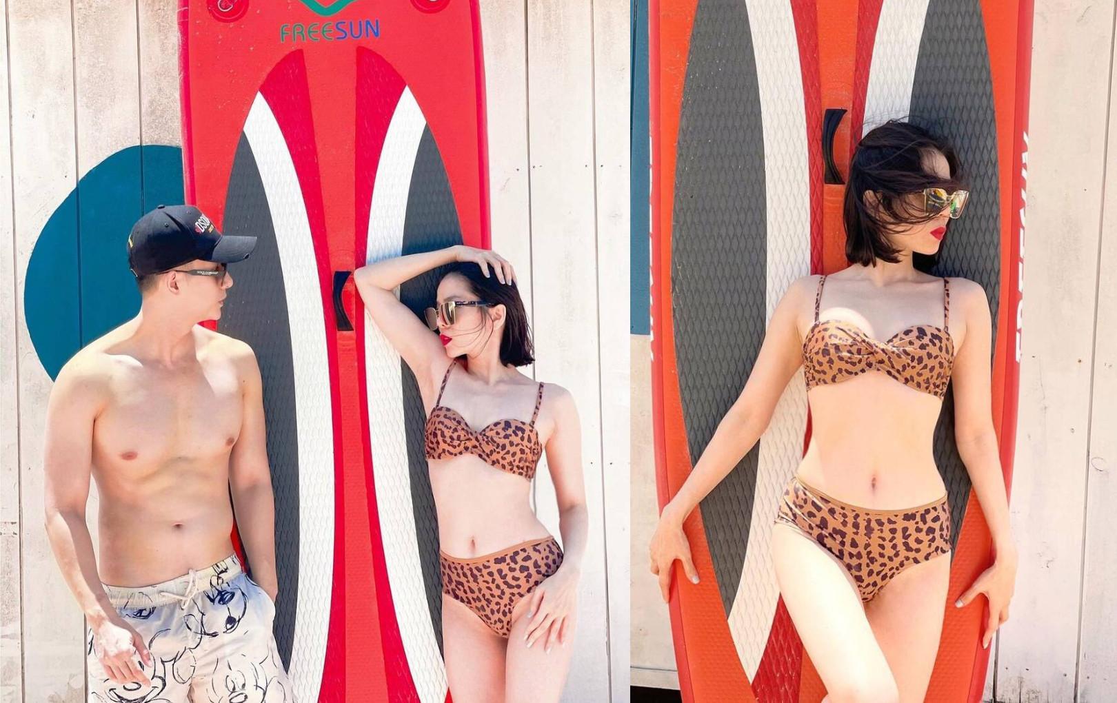 Lệ Quyên diện bikini nóng bỏng bên tình trẻ Lâm Bảo Châu