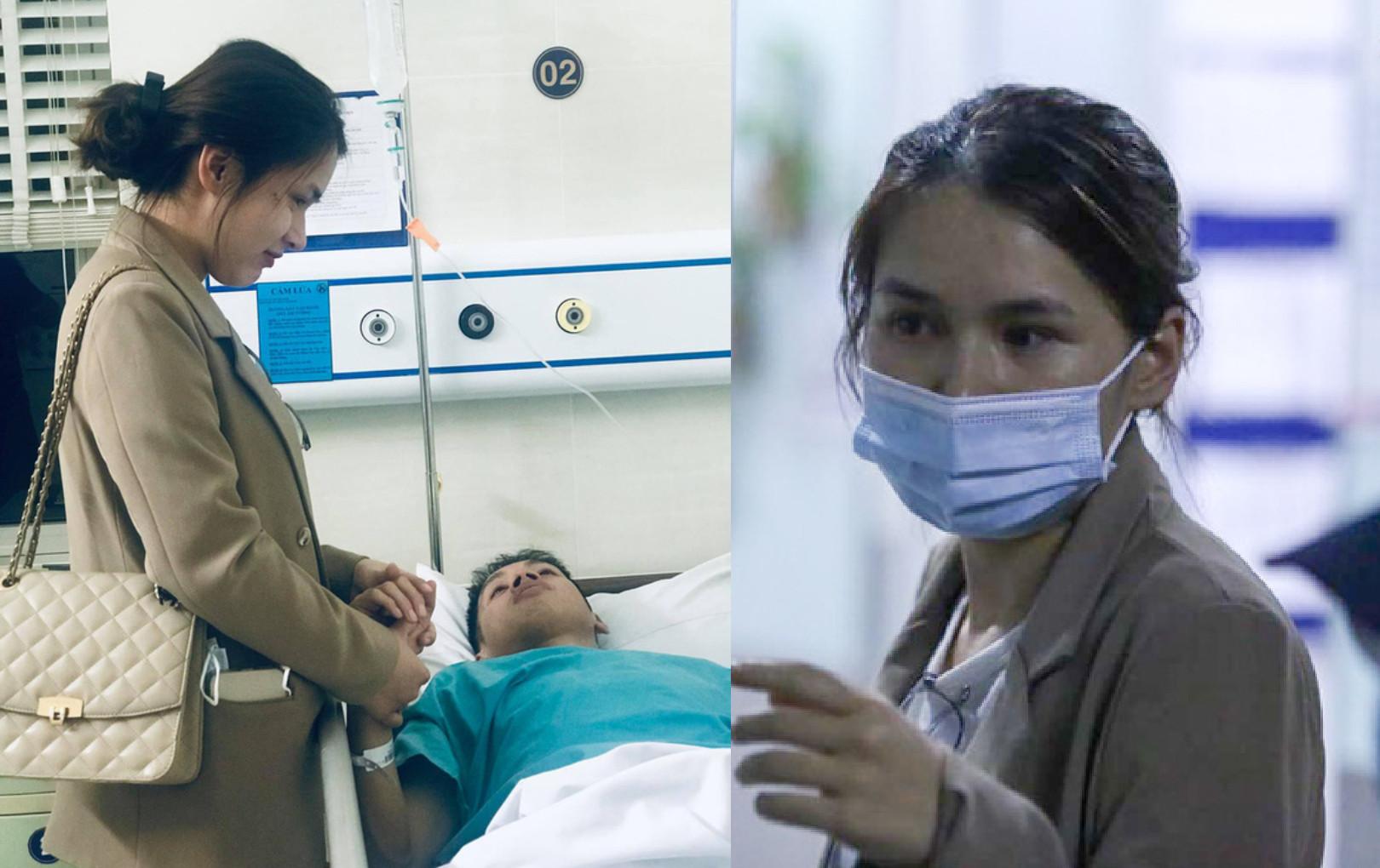 Vợ Hùng Dũng gạt nước mắt, gửi con nhỏ ở nhà để bay vào Sài Gòn chăm sóc chồng sau chấn thương nặng
