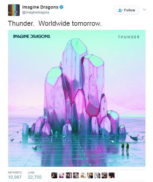 Imagine Dragons ra mắt ca khúc mới - Thunder