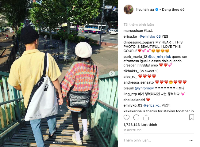 Hyuna đạt kỷ lục triệu like sau chưa đầy 24h nhờ đăng ảnh hẹn hò với EDawn, sao Việt cũng thả tim cho cặp đôi