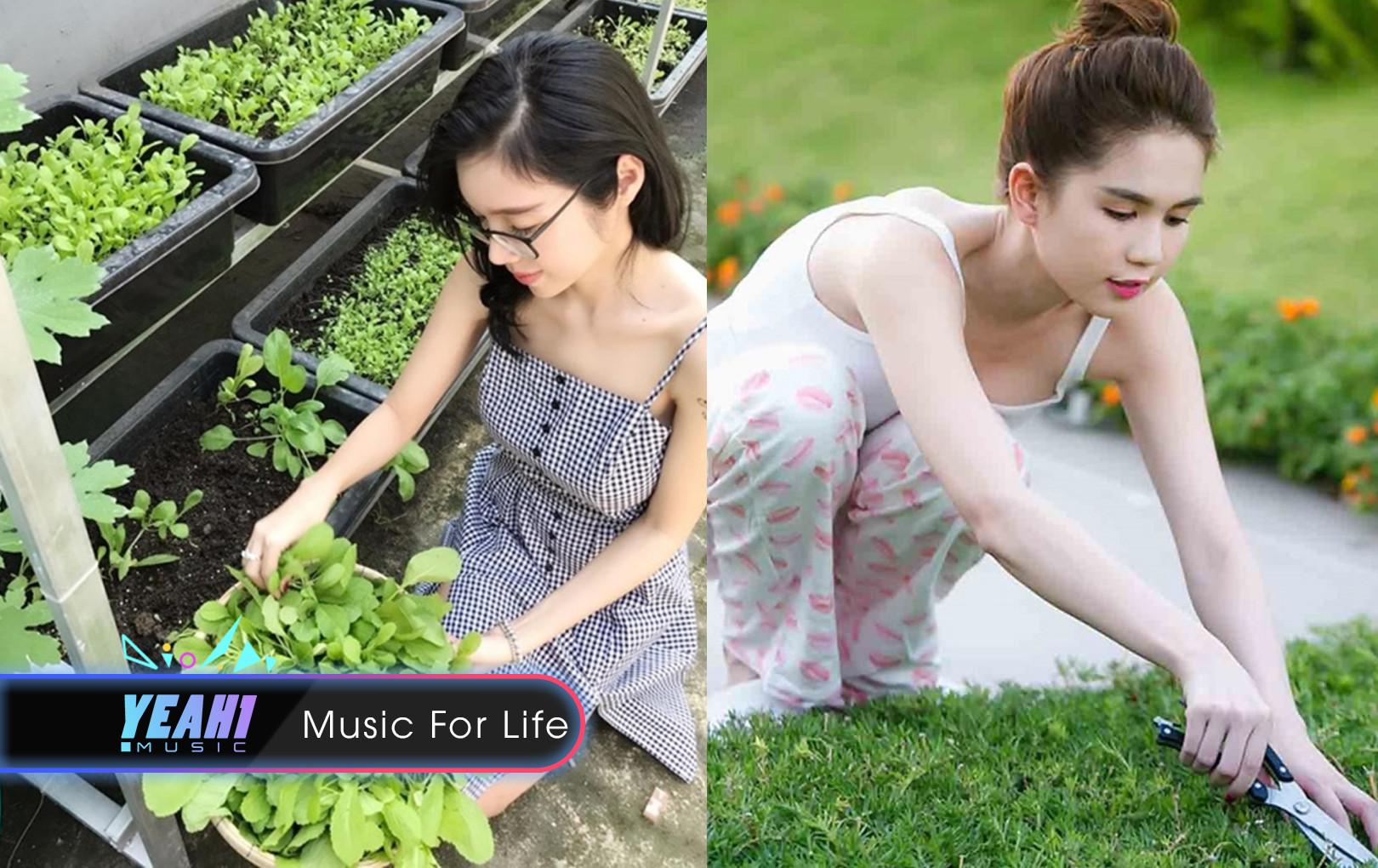 Thủy Tiên, Ngọc Trinh, Elly Trần theo đuổi style sang chảnh kể cả khi làm vườn, riêng Khởi My thì...