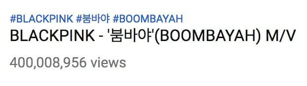BLACKPINK trở thành idol Kpop đầu tiên và duy nhất sở hữu 3 MV 400 triệu view