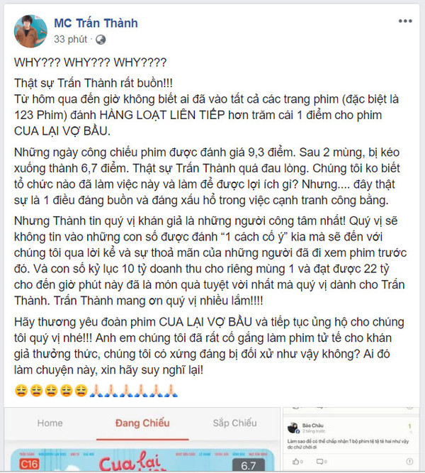 Hari Won giận dữ phản pháo khi phim của Trấn Thành nghi bị chơi xấu
