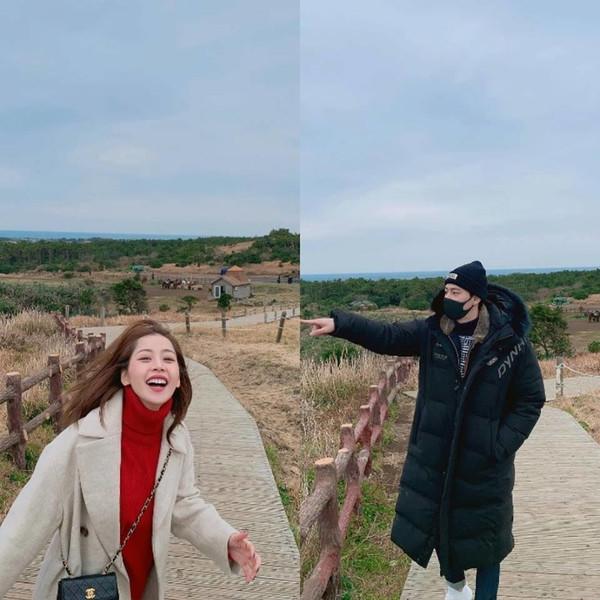 Bằng chứng hẹn hò rõ mồn một: Chi Pu và Jin Ju Hyung chụp ảnh cho nhau trong chuyến du xuân ở Hàn