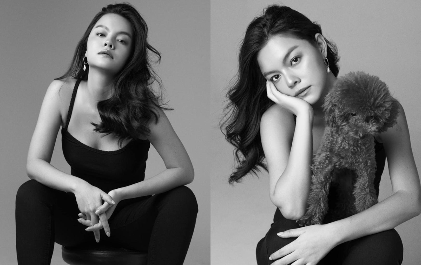 Phạm Quỳnh Anh ngày càng xinh đẹp và gợi cảm, tung bộ ảnh đơn sắc mừng tuổi 35 mà ngỡ 25