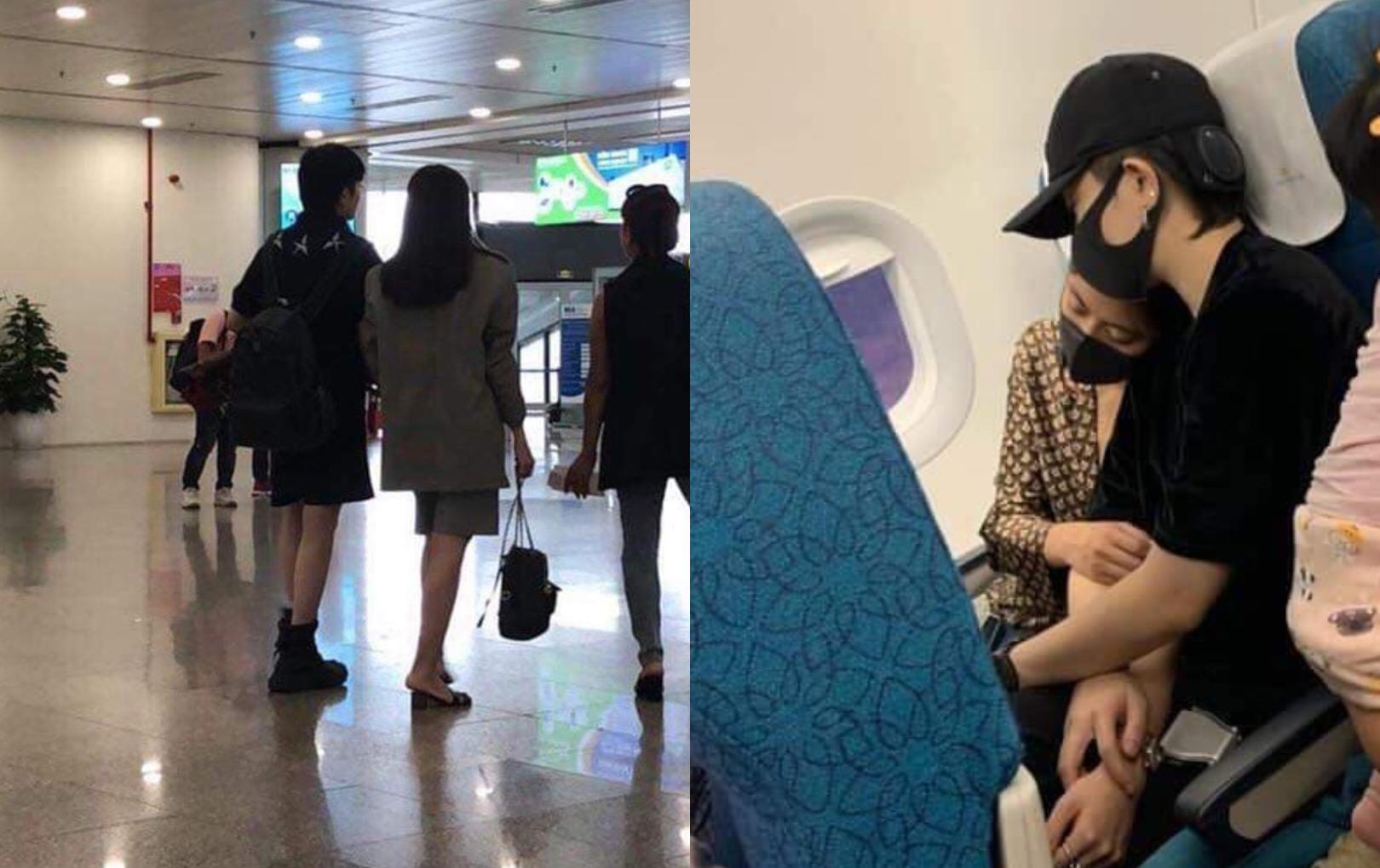 Fan phát hiện Gil Lê - Hoàng Thùy Linh ra sân bay cùng nhau, còn tựa đầu, khoác tay cực tình cảm