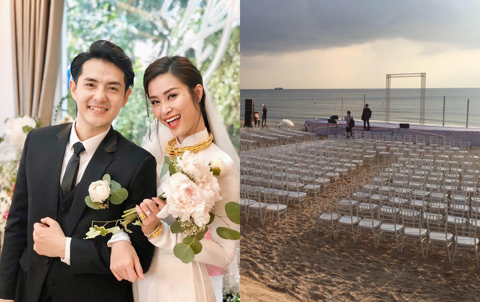Hé lộ hình ảnh không gian đám cưới Đông Nhi - Ông Cao Thắng ở Phú Quốc trước giờ G