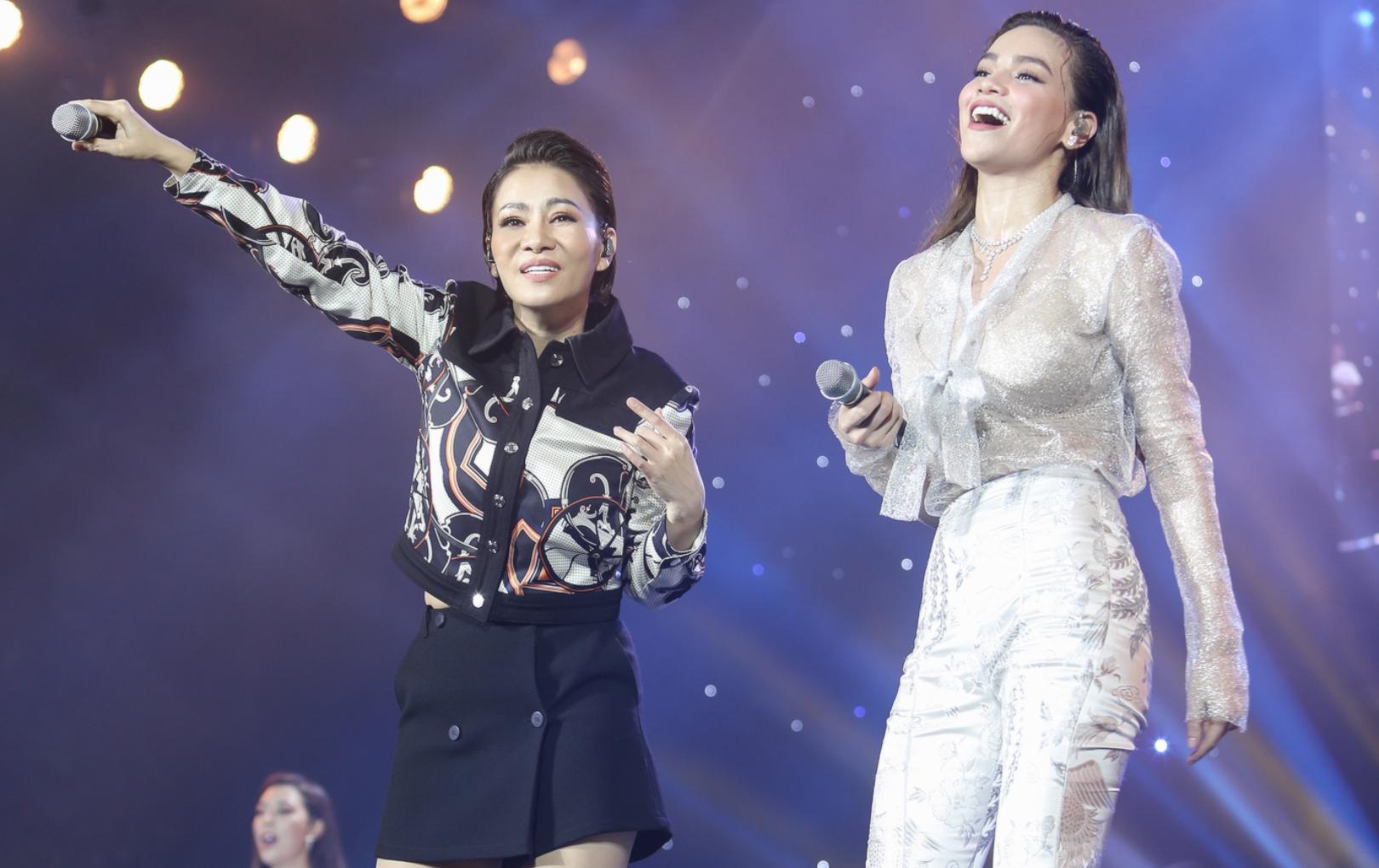 Thu Minh - Hồ Ngọc Hà đốn tim khán giả khi cùng song ca mashup loạt hit tại sự kiện âm nhạc