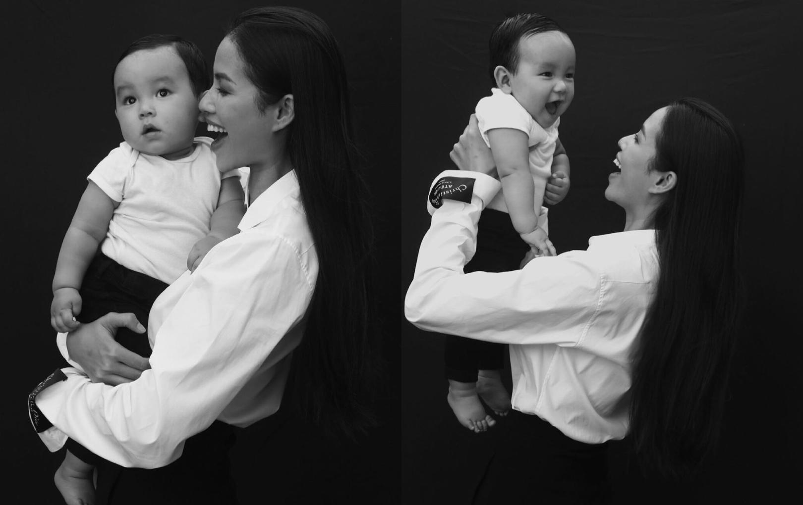 Phạm Hương lần đầu đăng ảnh cận mặt con trai trước thềm năm mới