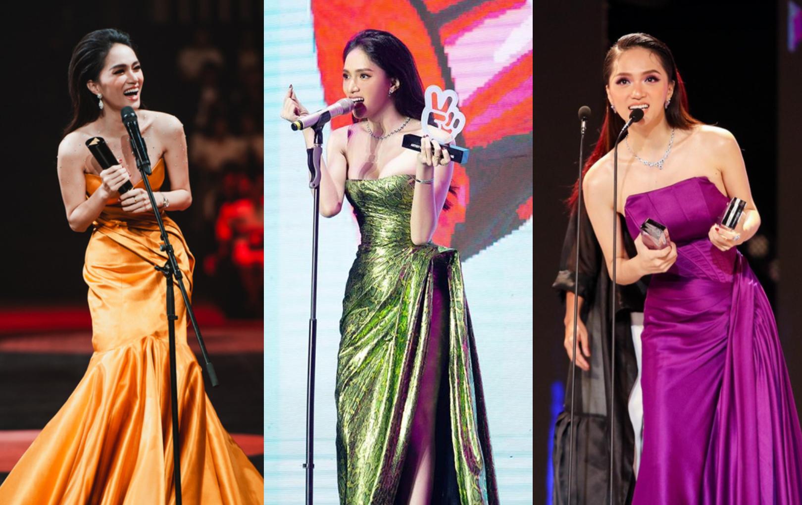 """Hương Giang """"bội thu"""" giải thưởng, liên tiếp giành cúp tại các lễ trao giải cuối năm"""