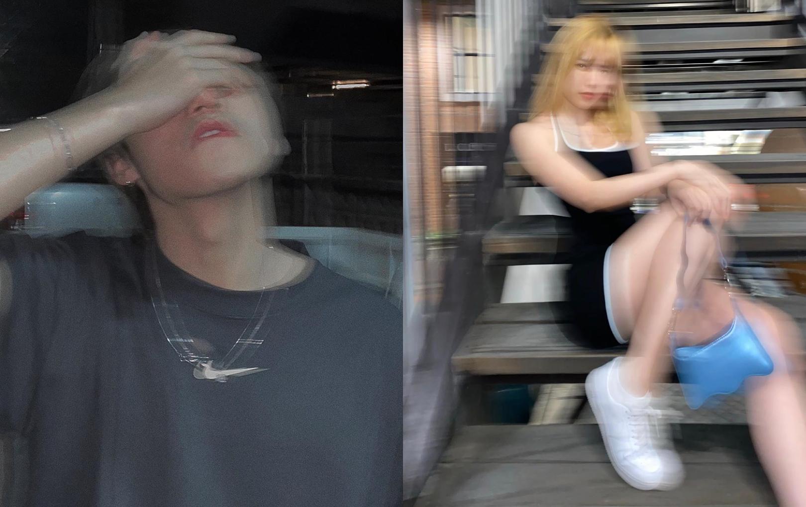 """Trước thềm Valentine, Sơn Tùng M-TP và Thiều Bảo Trâm bị """"soi"""" cùng chụp ảnh style mờ ảo"""