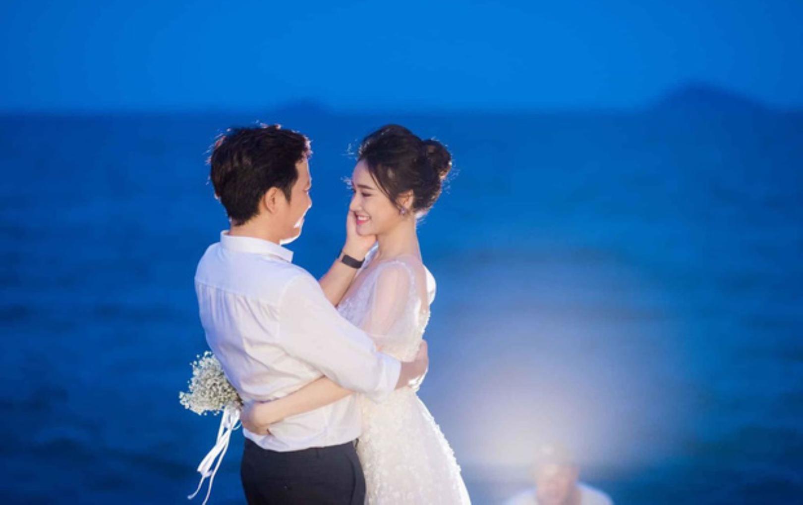 Trường Giang - Nhã Phương tung bộ ảnh lung linh tại hôn lễ bí mật trên biển cách đây hơn 1 năm